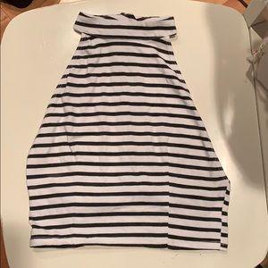 LF halter Black and white striped tank